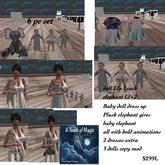 Baby Dress up dolls & Plushy elephant toy-Box