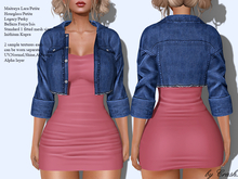 byCrash Full perm mesh-Jeans jacket and dress