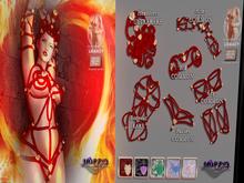 MORBID MAUSOLEUM Ereleuva Headdress - Scarlet ULTRARARE
