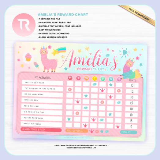 [TR] Amelia's Reward Chart