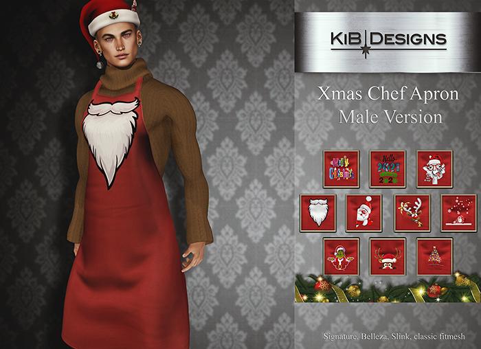 KiB Designs - Xmas Chef Apron Male DEMO