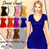 BRILLANCIA- DRESS JANET BLUE