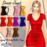 BRILLANCIA- DRESS JANET RED