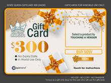 WHITE QUEEN GIFTCARD - 300L