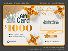 WHITE QUEEN GIFTCARD - 1000L