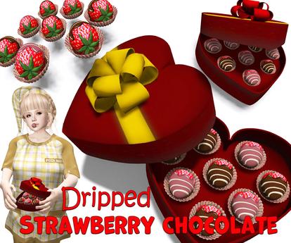 [ FULL PERM ] Dripped Strawberry Chocolate