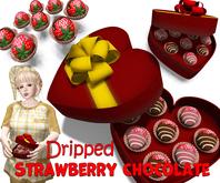 [ FULL PERM ] Valentine's day Dripped Strawberry Chocolate