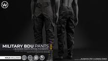 [WAZ] Military BDU Pants (Black)