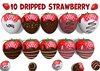 [ FULL PERM ] 10 Dripped Chocolate Strawberry