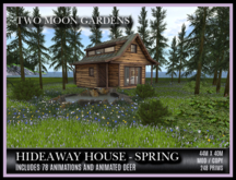 TMG - HIDEAWAY HOUSE IN SPRING* Landscaped Forest Garden with a cosy cabin