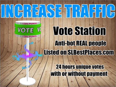 SLBestPlaces.com Vote Station 35% tax - TRAFFIC BOOSTER