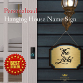 Bellisseria PERSONALIZED Hanging House Name Sign (BX)