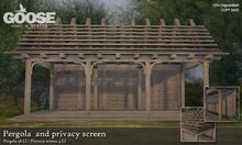 GOOSE - Pergola and privacy screen
