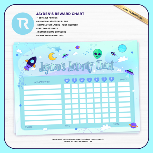 [TR] Jayden's Activity Chart