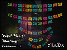 Zinnias Set of Papel Picado Banners