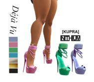 Deja Vu - Wide Ankle Strap Stiletto - Original, [KUPRA]
