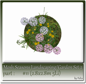 Mesh Landscape-Garden Seasons(Hud) Part #11 (2.8x2.8m 5Li)