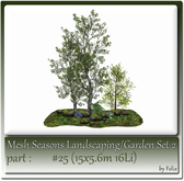 Mesh Landscape-Garden Seasons(Hud) Part #25 (15x5.6m 16Li)