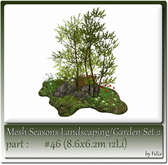Mesh Landscape-Garden Seasons(Hud) Part #46 (8.6x6.2m 12Li)