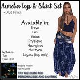CnK: Aurelia Boho Top & Skirt ~Blue Paws