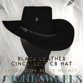 Cinch Belt Black Leather CB Hat