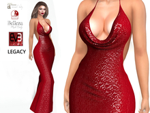 ~PP~ Sequined Jacque Gown - Red Passion