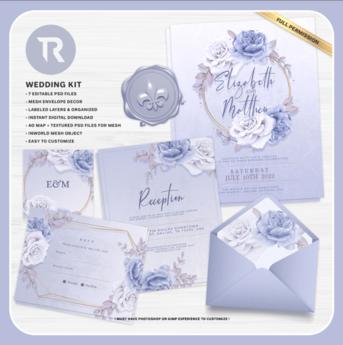 [TR] Light Blue Wedding Invitation