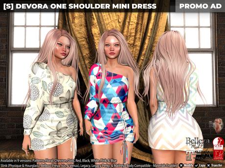 [S] Devora One Shoulder Mini Dress Demo