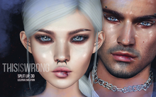 THIS IS WRONG Split lip shine+tattoo 3D