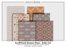 KraftWork Runner Rugs . Boho Set (Add Me)