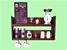 ALPHA KITCHEN 3D look SHELF WALL DECAL: HAPPY HOME COFFEE SERVER HOME DECOR! Copy/Mod 1 PRIM! Both Sides! Ready to Hang!