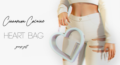 [Cinnamon Cocaine] Heart Bag - Icey *Gift* (add/touch)