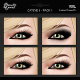 Kyoot Makeup - Cateyes I - Pack 1 (Basic Blacks)