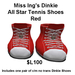Miss Ing's Dinkie All Star Tennis Shoes Red