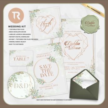 [TR] Geometric Heart Wedding Invitation