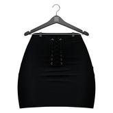 Little Fox - Jennie suede skirt // black