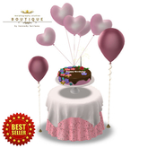 Birthday Cake 'CAKE SERVER' with Table & Chairs Set PINK (BOXED)