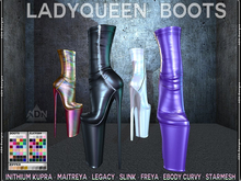 ADN Ladyqueen Boots INITHIUM Kupra Maitreya Legacy Freya Slink