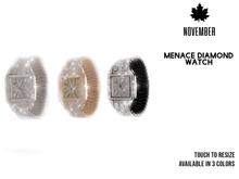 Nov-Menace Diamond Watch(S)