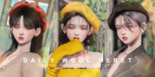 cheezu. daily wool beret : fullpack