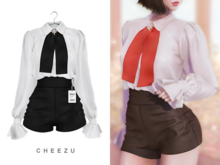 cheezu. swan outfit : black