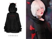 cheezu. sin hoodie : black