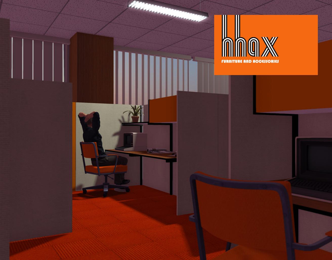 HHAX 70s office cubicle system