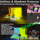 NEW 2021 SoftBox and Shadow Projector, pro, photography, lights, Photo studio, HUD control 300 quality poses, 100% mesh