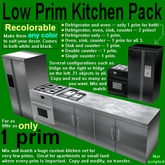 Recolorable low-prim kitchen pack