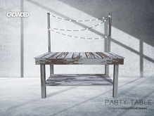 Crowded Room - Party Table - Old