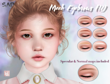 Sap ~ Meek Eyebrows HD Applier (Lelutka Evo / EvoX)