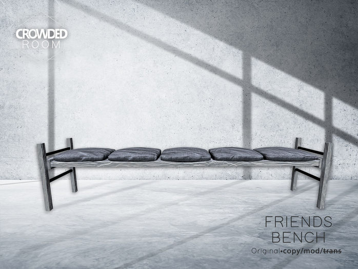 Crowded Room - Friends Bench - White