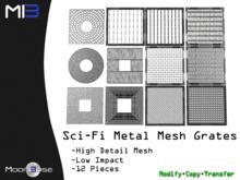 [MB3] Sci-Fi Metal Mesh Grates