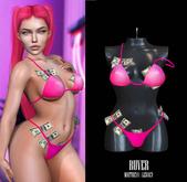 RUVER-Bra::Panties:: Dollar Baby-Toxic Pink (M\L)